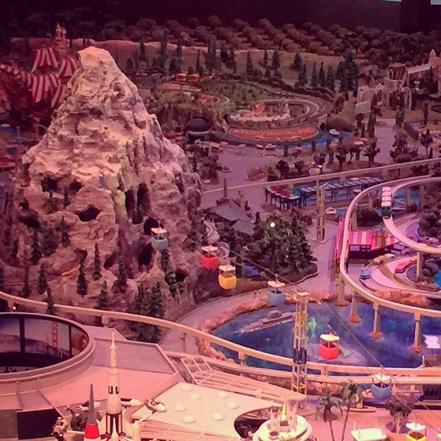 #matterhornmonday with another #WDFmuseum pic of that #Disneyland model!