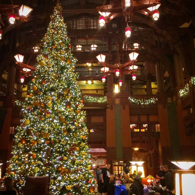 What's your favorite holiday spot outside the parks?  One of ours is the lobby of the #grandcalifornian. The tree, the Carole's, the fireplace, and now a huge gingerbread house! #disneylandresort #disneyparks #Disneyland