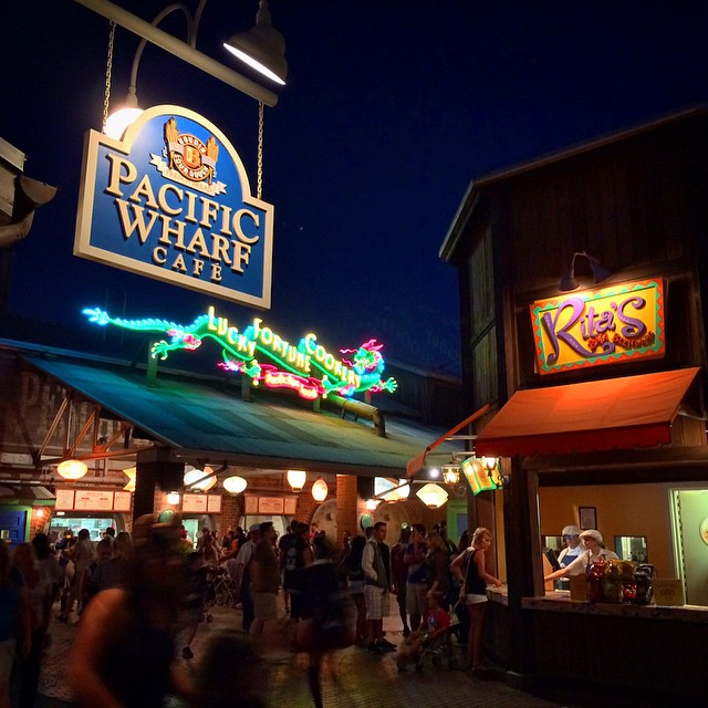 Some of my favorite places to stop and eat/ drink! #disneycaliforniaadventure #pacificwharf #disneyfood