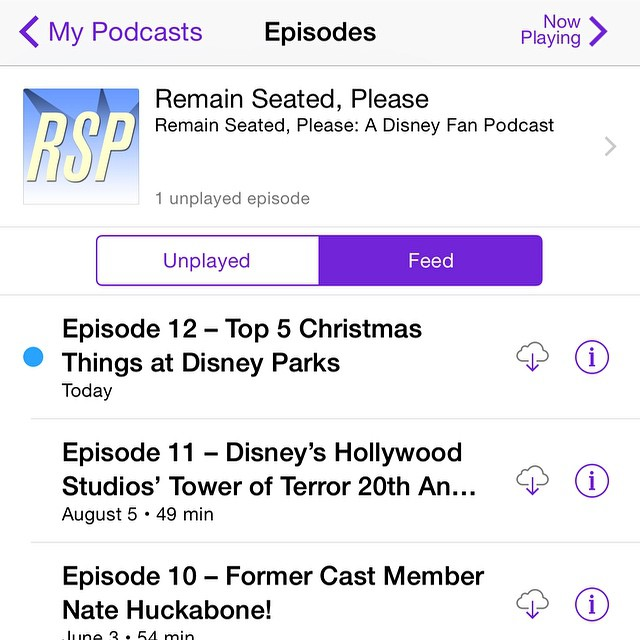 Guess who's back?! Refresh those podcast apps and take a listen today! #podcast #Disneyland #Christmas