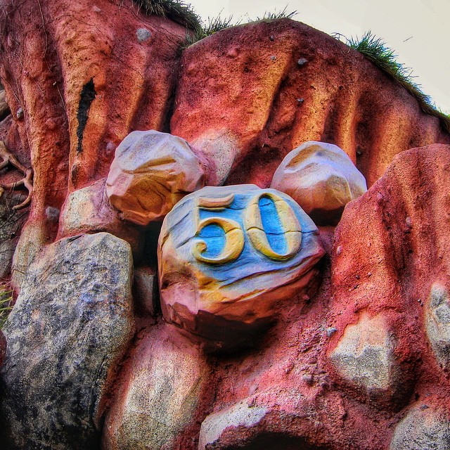 Here's another of my favorite #hiddenmickeys from #disneyland's 50th anniversary…