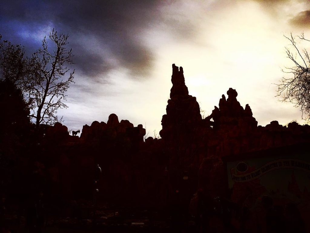 Backside of Big Thunder Mountain goat